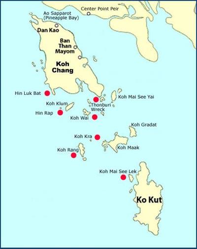 แผนที่เกาะช้าง