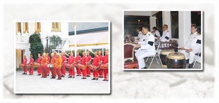 การบรรเลงดนตรีไทยในงานพระศพ