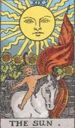 ไพ่ The Sun