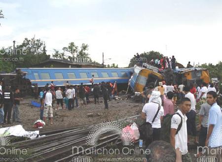 รถไฟตกราง
