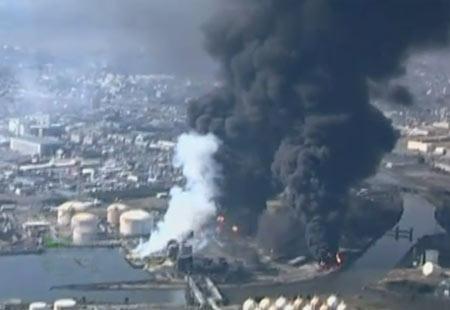 ภาพโรงไฟฟ้านิวเคลียร์ในฟุกุชิมะ ระเบิด