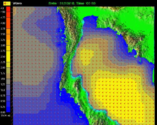 เตือนภาคใต้ฝั่งตะวันออกตามแนวพายุให้ระวังน้ำท่วมและคลื่นพายุซัดฝั่ง (STORM SURGE)
