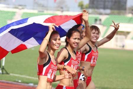 ทีมนักวิ่งสาวไทย รักษาแชมป์เหรียญทองได้ ซีเกมส์ครั้งที่ 25