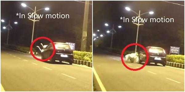 ขำไม่ออกเลยทีนี้ หนุ่มแต่งผีโดนรถพุ่งชน ก็ดันไปหลอกจนคนขับตกใจ