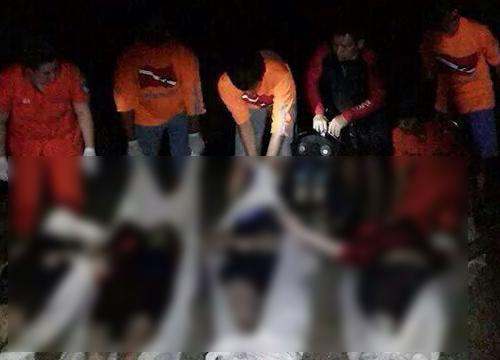 นักท่องเที่ยว 4 สาวพลัดตกน้ำดับ ที่กาญจนบุรี สภาพศพจับมือกันแน่น