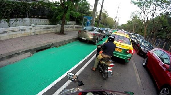 ทางจักรยานใหม่ย่านจตุจักร
