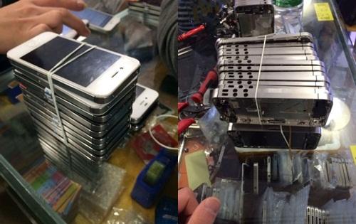 จีนแสบ ถอดชิ้นส่วนไอโฟนเก่าย้อมแมวเป็นเครื่องใหม่ขาย