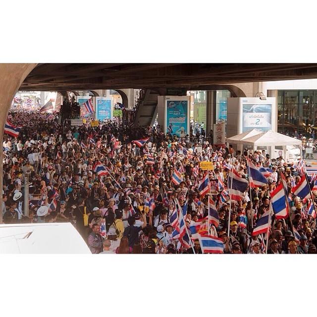 ประมวลภาพชัตดาวน์กรุงเทพฯ คนร่วมม็อบ กปปส. bangkok shutdown