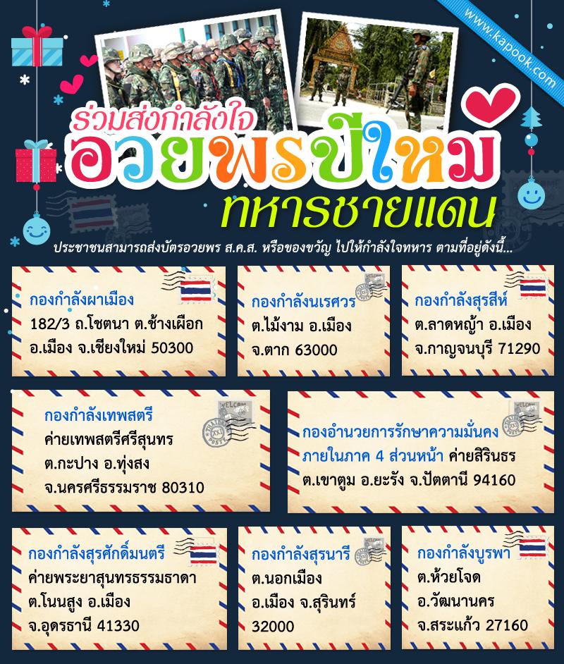 อวยพรปีใหม่ทหารชายแดน เชิญชวนคนไทย ร่วมส่งกำลังใจ