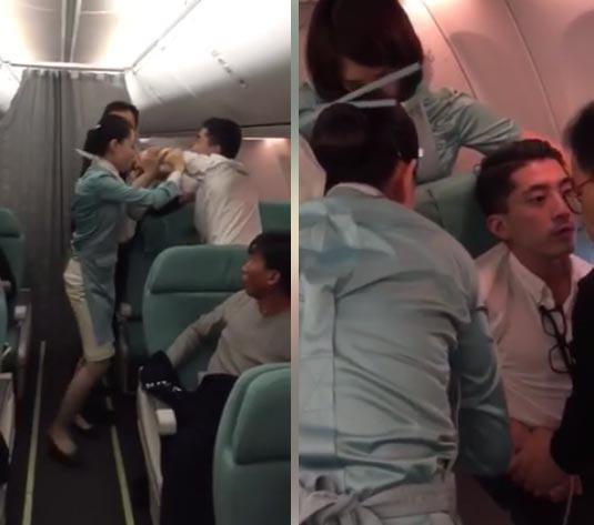 เมาอาละวาดบนเครื่องบิน