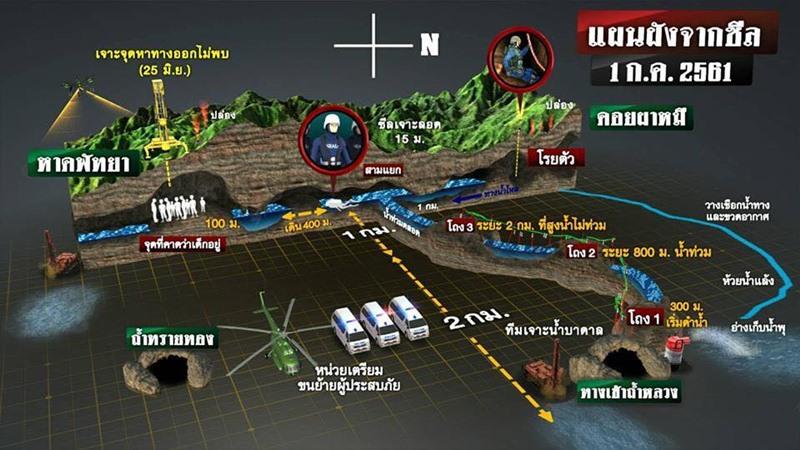แผนที่ถ้ำหลวง