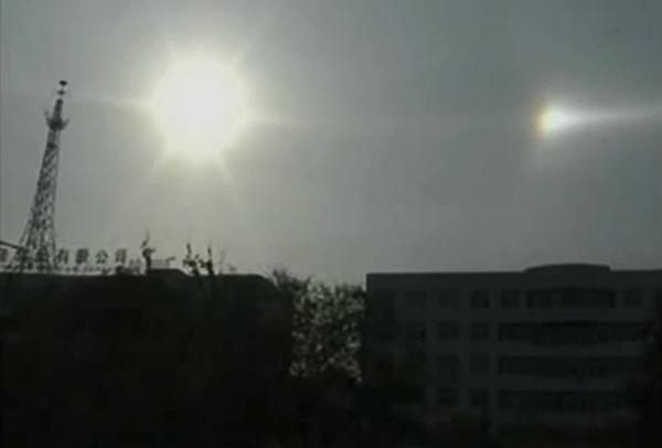 ปรากฏการณ์พระอาทิตย์ 3 ดวง เหนือน่านฟ้ามองโกเลีย