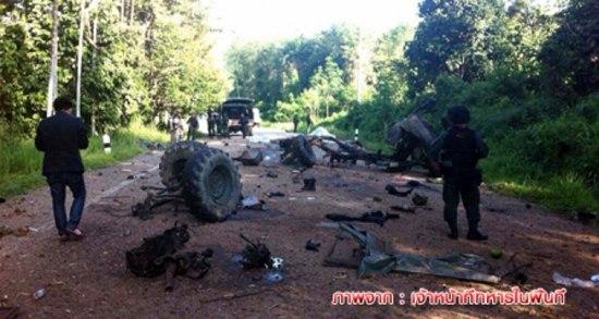 ระเบิดรถทหารกรงปีนัง