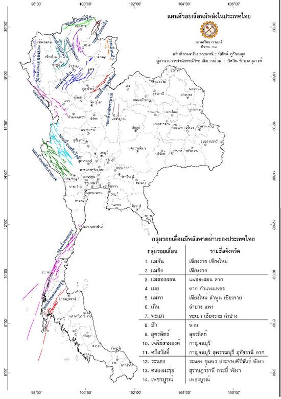 รอยเลื่อนที่มีพลังในไทย