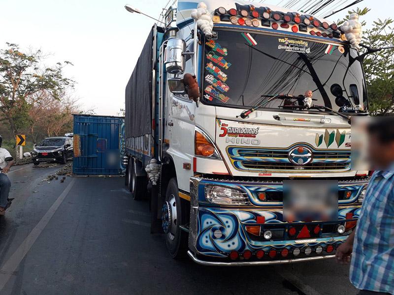 รถบรรทุกทับมอเตอร์ไซค์