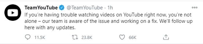Youtube ล่ม